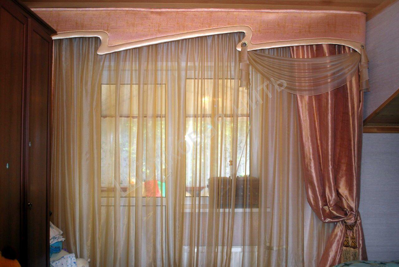 Дизайн штор из нитей для спальни